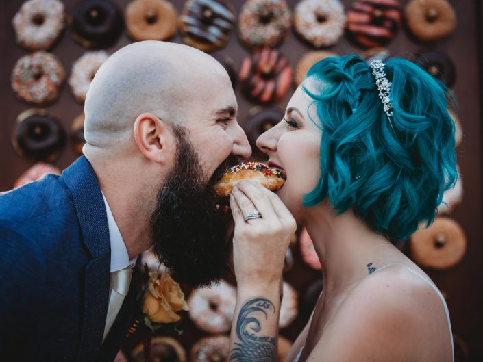 Fun and Funky Grapefruits and Donuts Wedding