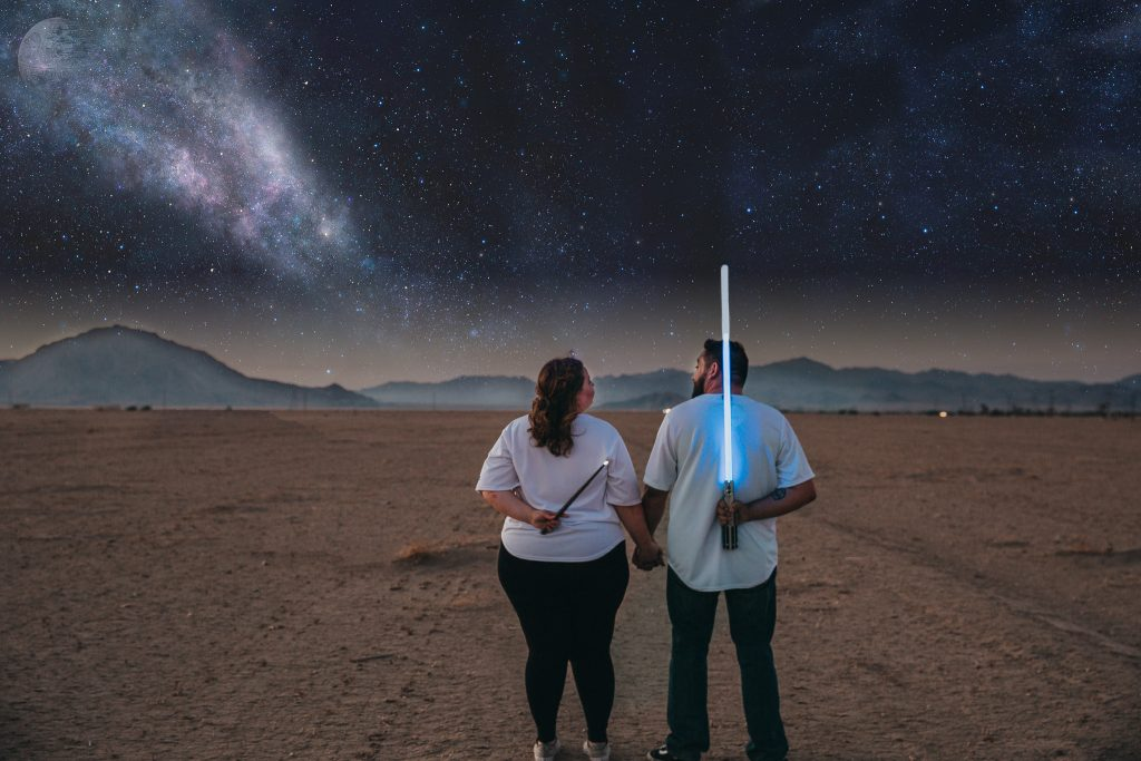star wars engagement photo shoot
